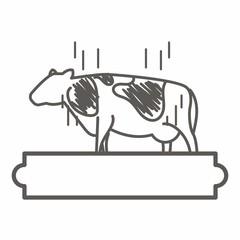 Milk logo icon vector