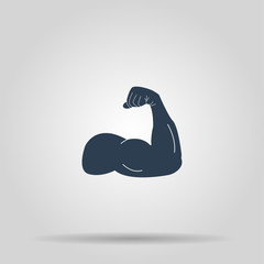 Muscle Icon. Vector concept illustration for design