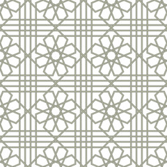 Traditional Arabic seamless ornament. Floral Ornamental pattern. Vector. Background