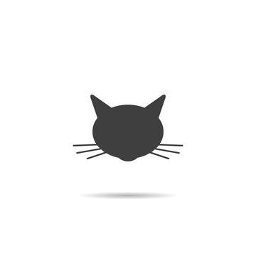 Icon silhouette of cat's head.