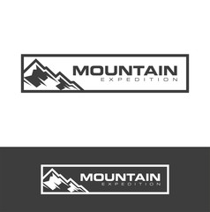 Outdoor mountain logo design vector