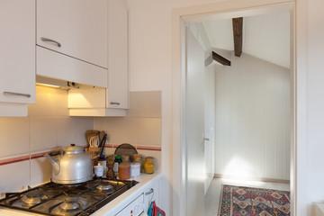 Kitchen, gas cooker