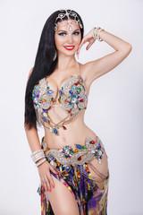 Belly dancer woman bellydance