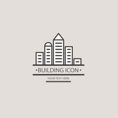 Buildings vector icon for your design. Construction of a city bl