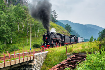 Steam train rides on Circum-Baikal Railway