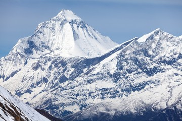 Fototapete - Summit of Dhaulagiri, Annapurna Circuit, Mustang, Nepal