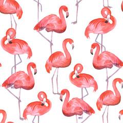 Pink flamingo seamless