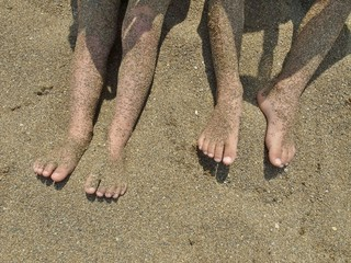 砂のついた足画像