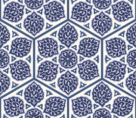 Floral Ornamental pattern. Traditional Arabic seamless ornament. Vector. Background