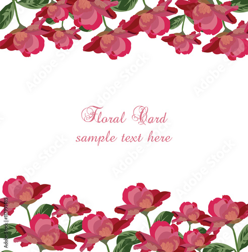 Roses floral card Vector rose flowers banner Vintage background – Mothers Day Invitation Cards