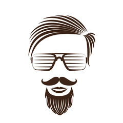 Hipster fashion man hair , vector illustration