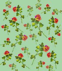 Carta da regalo con fiori.