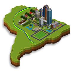 Brasile isometrico
