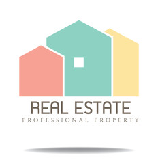 real estate color logo