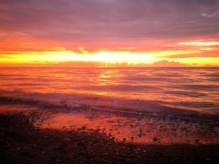 Sonnenuntergang am Meer an der Ostsee