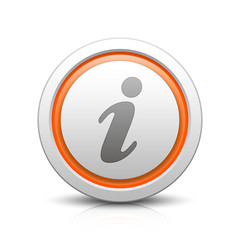 Information – Light gray button with reflection & orange