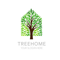 Tree house logo template.