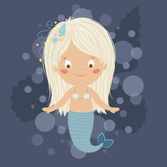 Mermaid girl.