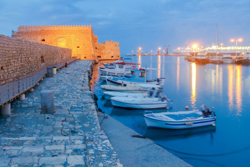 Heraklion. The old Venetian fortress at night.