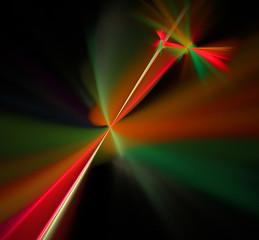 Abstract fractal computer-generated image rainbow laser beams