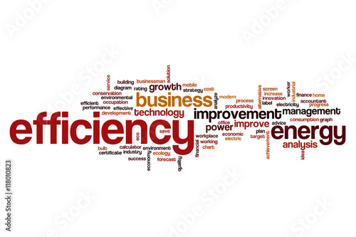 """Efficiency word cloud"" Stock photo and royalty-free ..."