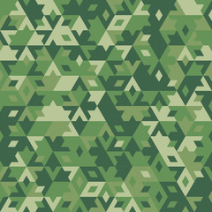 Abstract vector geometric forest seamless background