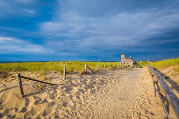 Sandy path at Race Point, in the Province Lands at Cape Cod Nati
