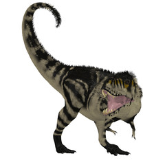 Black White T-Rex Dinosaur - Tyrannosaurus Rex was a carnivorous dinosaur that lived in the Cretaceous Period of North America.