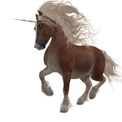 Shetland Unicorn - A fantasy animal that is a cross of the Shetland pony and the Unicorn of folklore and legend.