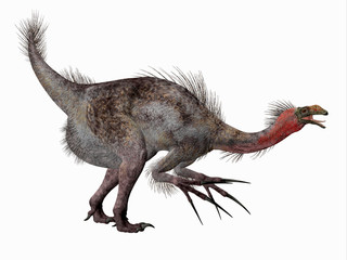 Therizinosaurus Dinosaur Side Profile - Therizinosaurus was a carnivorous theropod dinosaur that lived in the Cretaceous Period of Mongolia.