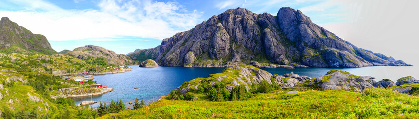 Foto op Aluminium Noord Europa Landscape of Lofoten Islands in Norway.
