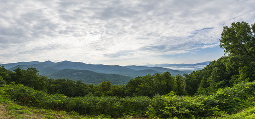 Asheville mountains overlook