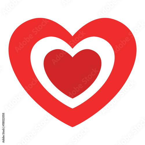 Simple Red Heart Sharp Vector Icon Color Card Beautiful Celebrate