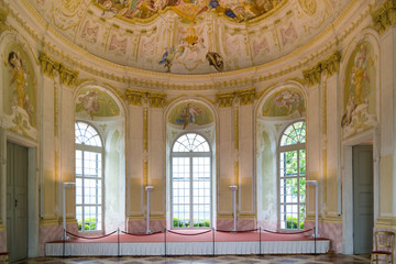 Interior of baroque Garden Pavilion of Melk Abbey in Wachau Valley, Lower Austria