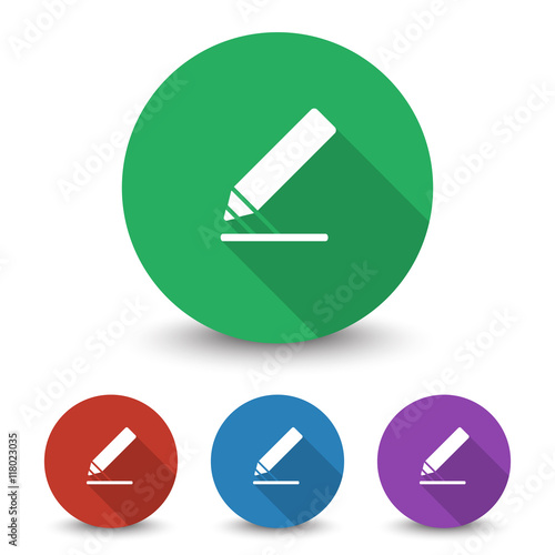 """White Sign Here icon in different colors set"" Stock image ..."