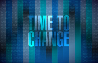 time to change binary background sign isolated
