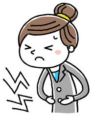 ビジネスウーマン:腹痛