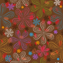 Floral seamless pattern. Colorful flowers