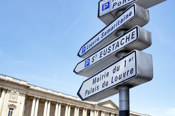 Street sign in Paris