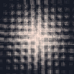 Abstract grunge vector background. Squared monochrome raster composition of irregular graphic elements.