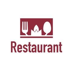 Restaurant logo cutlery design