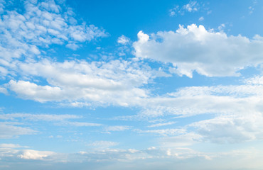 blue sky with clouds Wall mural