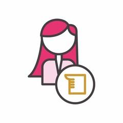 teacher logo icon vector