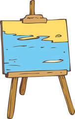 Picture on the Wooden Easel