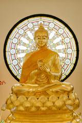Beautiful gold buddha statue