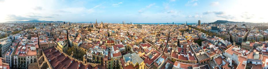 Foto op Canvas Barcelona from Santa Maria del Pi church, Spain