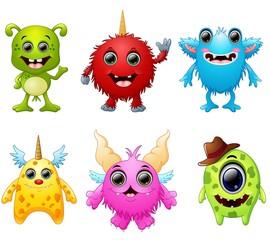 Halloween monster set collection