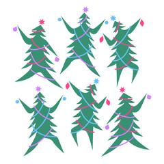 Dancing Christmas Trees
