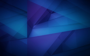 Dark violet and blue polygonal mosaic background