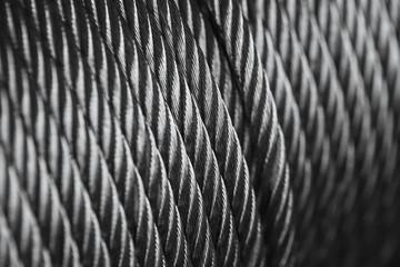 clean new steel cable steel wire or steel rope, rope sling drum.